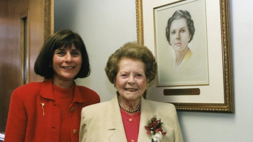 Photo of Carol Leary and M. Constance Breck '30