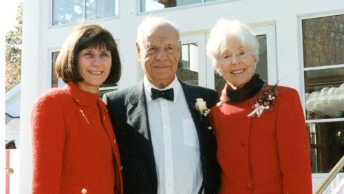 Photo of Dr. Leary with S. Prestley and Helen Blake