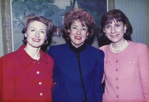 Photo of Elizabeth Dole, Carol Leary, and Caron Hobin at Bay Path's first Women's Leadership Conference.