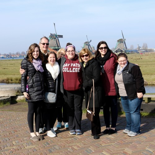 Dr. Leary & Noel Leary with students on the 2016 Capitals of the World Trip