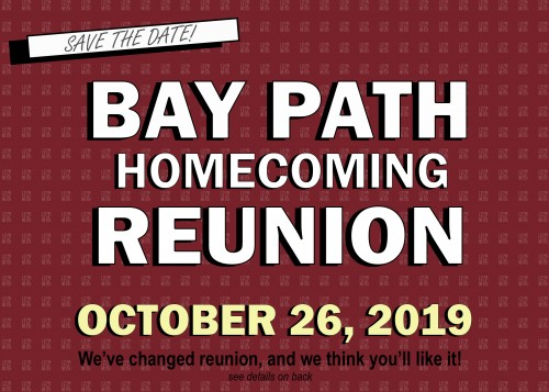 Save the Date for Reunion 2019 image. Date is October 26, 2019