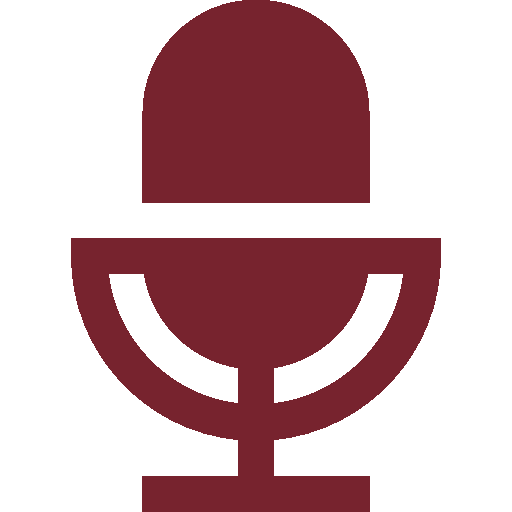 a maroon colored microphone