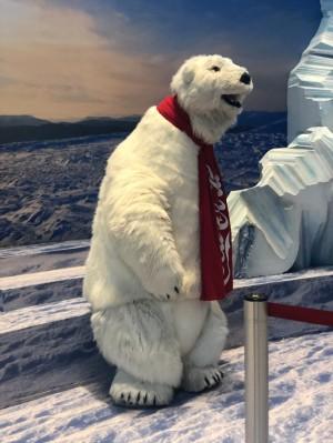 Coac-Cola polar bear mascot