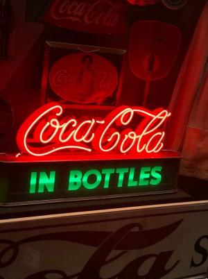 image of a neon Coca-Cola sign
